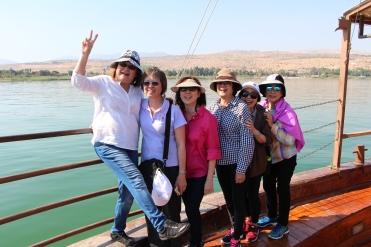 Aboard the Sea of Galilee